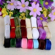 10mm aleatória cor mista fita de veludo 12 quintal/lote (1y/cor) guarnição costura tecido webbing artesanato decoração diy laço de cabelo fita