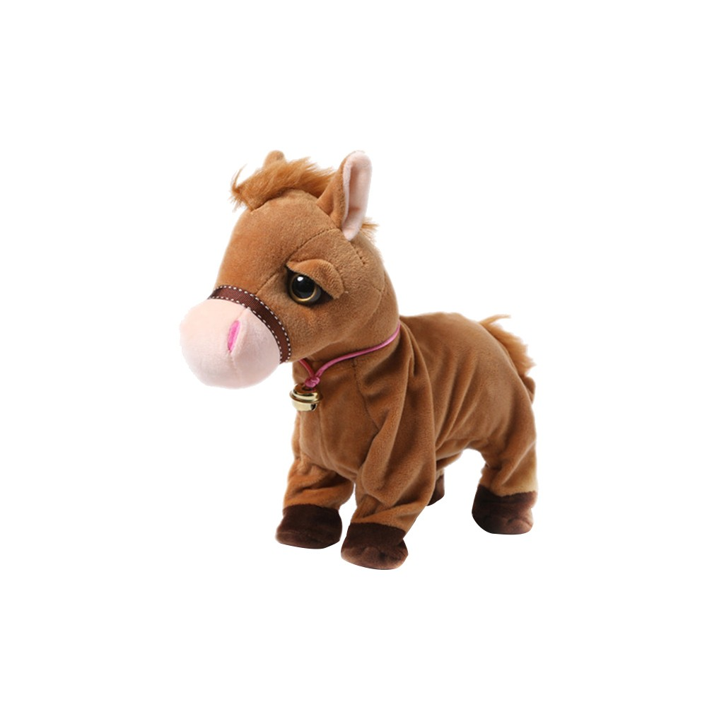 Voice-activated Instruction Electronic Pet Plush Electronic-Horse Kid Stand Walk Sound Control Interactive Robot Toy Gifts