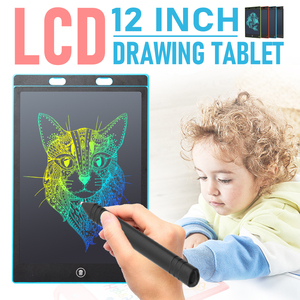 12 inch Portable Smart LCD Writing Tablet Electronic Notepad Drawing Graphics Handwriting Pad Board With Colorful Display(China)