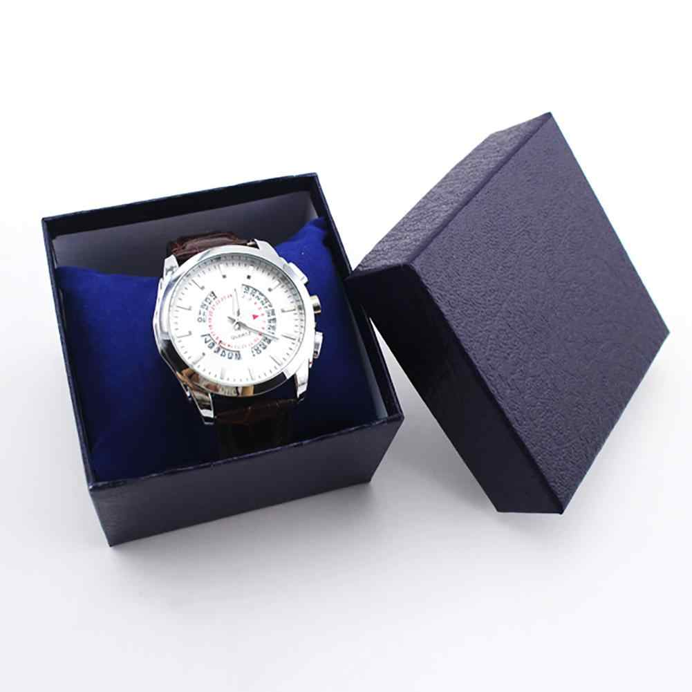 เครื่องประดับหนัง Faux นาฬิกาข้อมือผู้ถือกล่องจัดเก็บกรณีของขวัญใหม่ серьги женские kolczyki pendientes 2019 NE