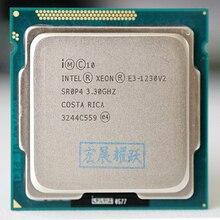 Intel Xeon işlemci E3 1230 v2 E3 1230 V2 PC bilgisayar masaüstü işlemci dört çekirdekli İşlemci LGA1155 masaüstü işlemci E3 1230V2