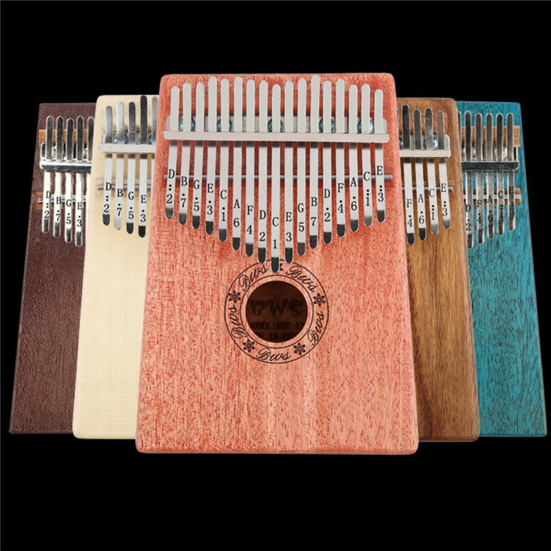 17 Keys Kalimba Thumb Piano High-Quality Wood Mahogany Body Musical Instrument With Learning Book Tune Hammer For Beginner