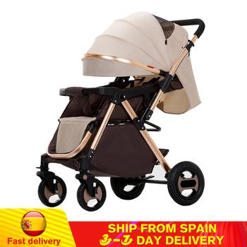 Składany wózek dziecięcy wysokie światło krajobrazu waga przenośny wózek podróżny wózek dziecięcy noworodek dziecięcy wózek nosidło wózek dziecięcy tanie i dobre opinie copsean W wieku 0-6m 7-12m 13-24m 25-36m 4-6y CN (pochodzenie) 15KG Numer certyfikatu Folding Baby Stroller Oxford cloth Cotton Steel EVA Rubber