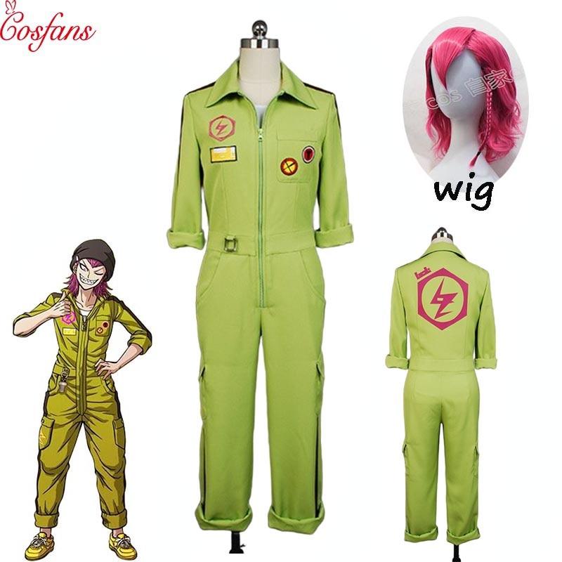 Anime Super DanganRonpa Kazuichi Souda Jumpsuit Cosplay Costume Suit Full Set
