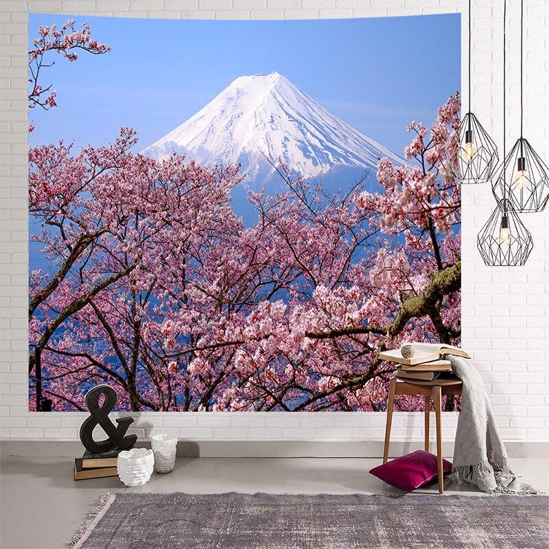 Image 4 - Mandala gobelin indyjski ściany wiszące romantyczne kwiaty wiśni mglisty góra czeski mata do jogi domu artystyczna do sypialni dywan w Gobeliny od Dom i ogród na