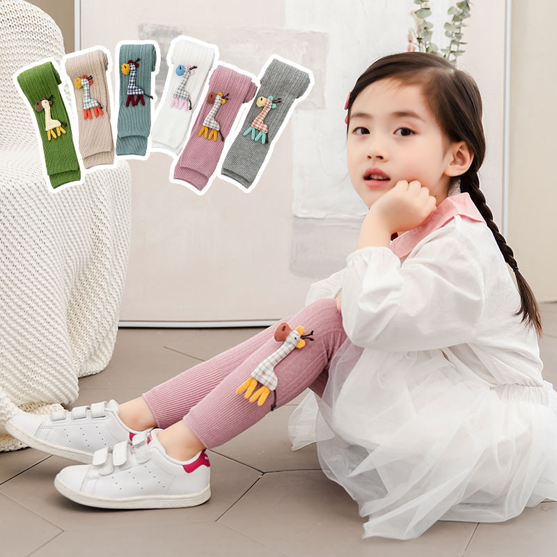 2020 Spring Autumn New Girl Children Kids Pantyhose Cartoon Deer Jewelry Cotton Girl Baby Nine Points Stocking Pantyhose