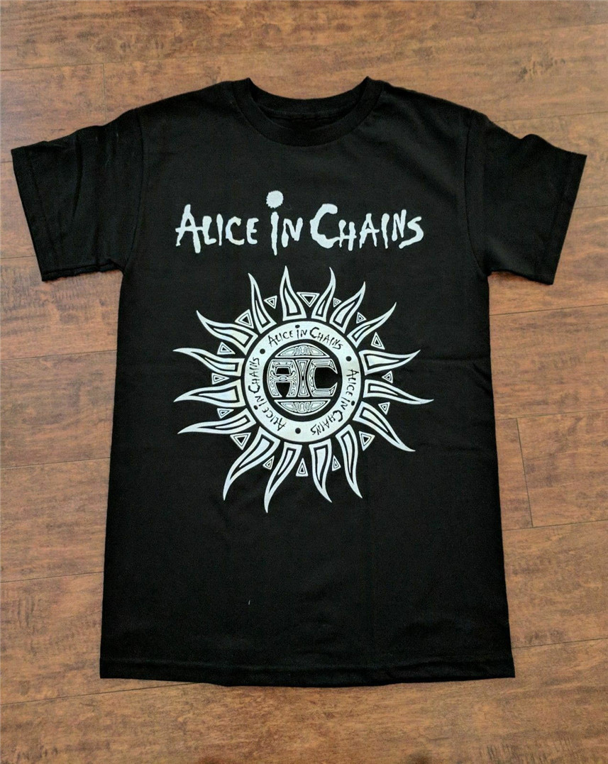 Alice in Chains Layne Staley Jerry Cantrell 1 Official Tee T-Shirt Mens