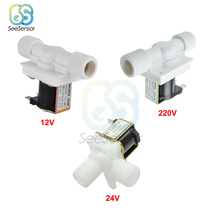 1/2 Plastic Solenoid Valve Switch 12V 24V 220V Magnetic Washing Machine Dispenser Drinking Water Pneumatic Pressure Controller цена