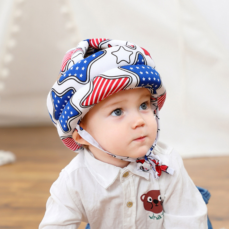 Adjustable Baby Hat Protective Anti-collision Safety Helmet Baby Cap Toddler Kids Hat for Girl Boy Accessories Cotton Mesh 6M-5Y 05