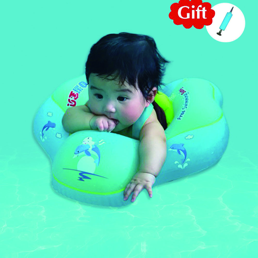 Baby Inflatable Swimming Ring Infant Kids Float Swim Pool Accessories Baby Bath Circle Pool Inflatable Buoy Toys For 0-6 Age