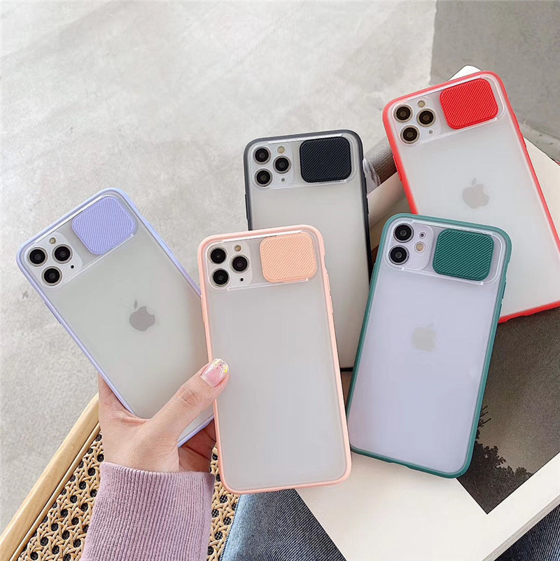 Soft Slide Camera Lens Protection Cases For iPhone 11 Pro Max X XR XS Max 6 6S 7 8 Plus Thin Shockproof Matte Clear Back Cover