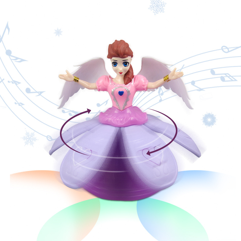 New Style Dancer Princess Electric Universal Dancing Princess Light Music Angel CHILDREN'S Toy Stall Wholesale