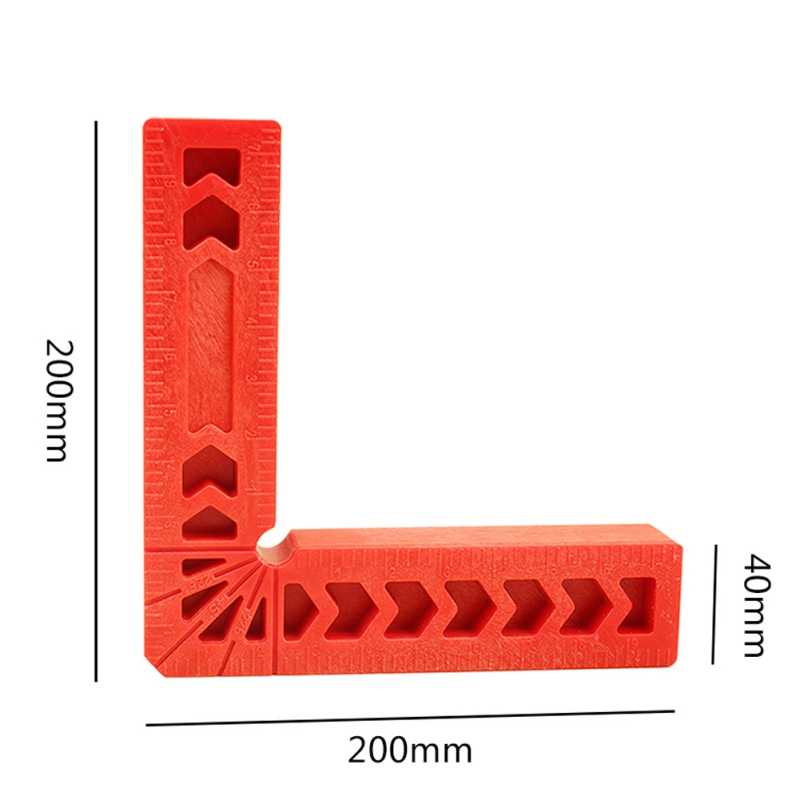 90 stopni kwadraty pozycjonowania plastikowe mocowanie placu kąt zacisk do obróbki drewna stolarz narzędzie