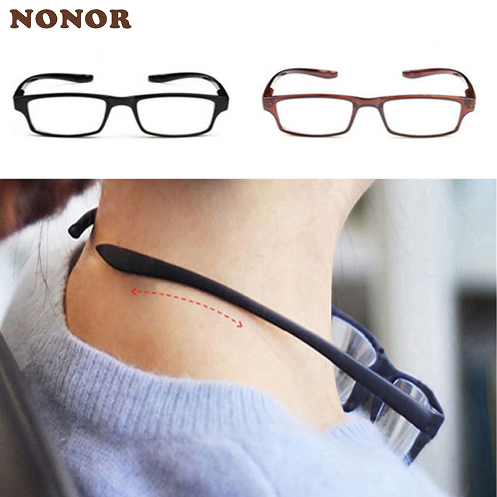 NONOR Neck Hanging Reading Glasses Men Women Anti fatigue Presbyopia Eyeglasses Ultralight Oculos Gafas Unbreakable Glasses