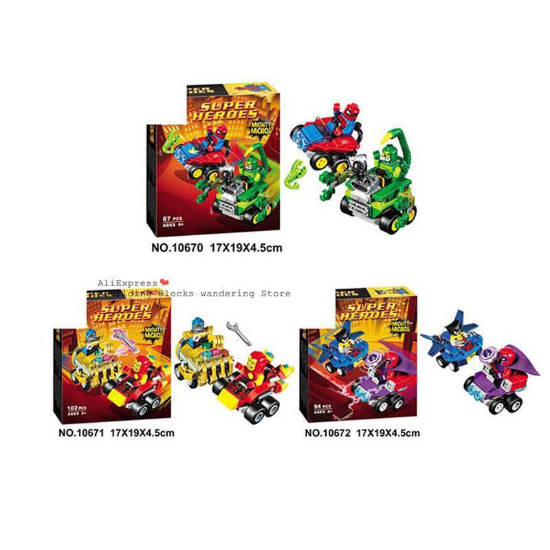 2019 Baru 10675 387 Pcs Marvel Super Hero Hulk Vs Merah Hulk Tim Kendaraan Bela Blok Bangunan Kompatibel Legoinglys 76078 batu Bata Mainan