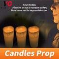Свечи Prop escape room puzzle игра 1987 Блокировка свечи  выключаемые дуновением на или вне или нет заказов на выпуск свечи  выключаемые дуновением  чтоб...