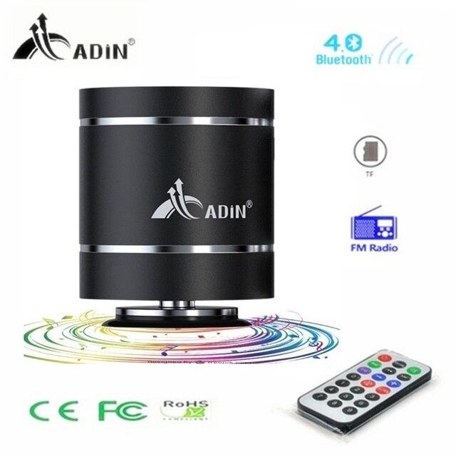 Adin télécommande 20W métal vibration sans fil bluetooth haut-parleur fm radio HiFi basse mains libres TF Subwoofer haut-parleurs micro