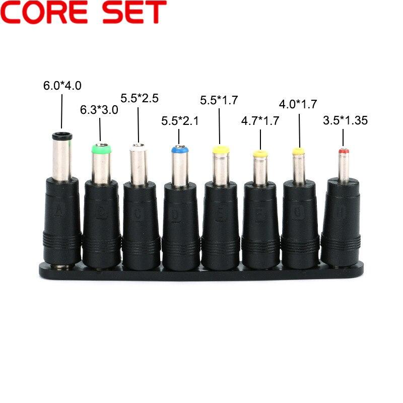 8 unids/set 5,5x2,1mm conector macho Universal de CC para enchufes de CC adaptador de corriente CA conectores Cables de ordenador portátil Montaje neumático conector de empuje rápido tipo UE acoplador de alta presión trabajo en compresor de aire estándares europeos de alta calidad