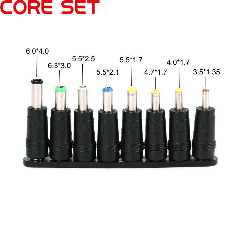 8pcs/Set 5.5x2.1mm Universal Male Jack Dc Connector For DC Plugs AC Power Adapter Computer Cables Connectors Notebook Laptop