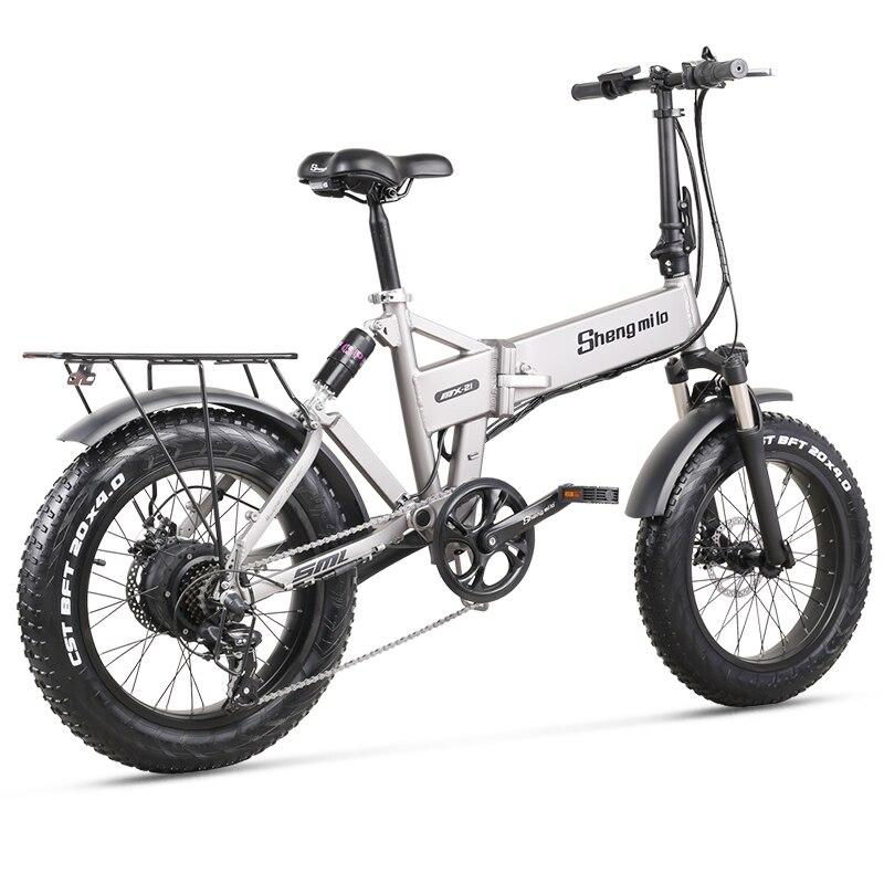 Electric Bike 500W City Bike Folding  Electric Bicycle Electric Mountain Bike 20 inch 4.0 Fat Tire ebike  48V Lithium Battery 4