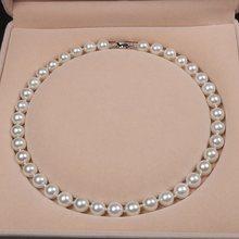 Collana di perle di conchiglie di mare profondo naturale da 10MM collana di perle di conchiglia rotonda multicolore femminile