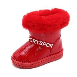 Sialia zimowe dziecięce buty na buty dziewczęce dziecięce buty śniegowe buty pluszowe ciepłe sznurowane platforma zewnętrzna bota infantil menina 2020 w Buty od Matka i dzieci na