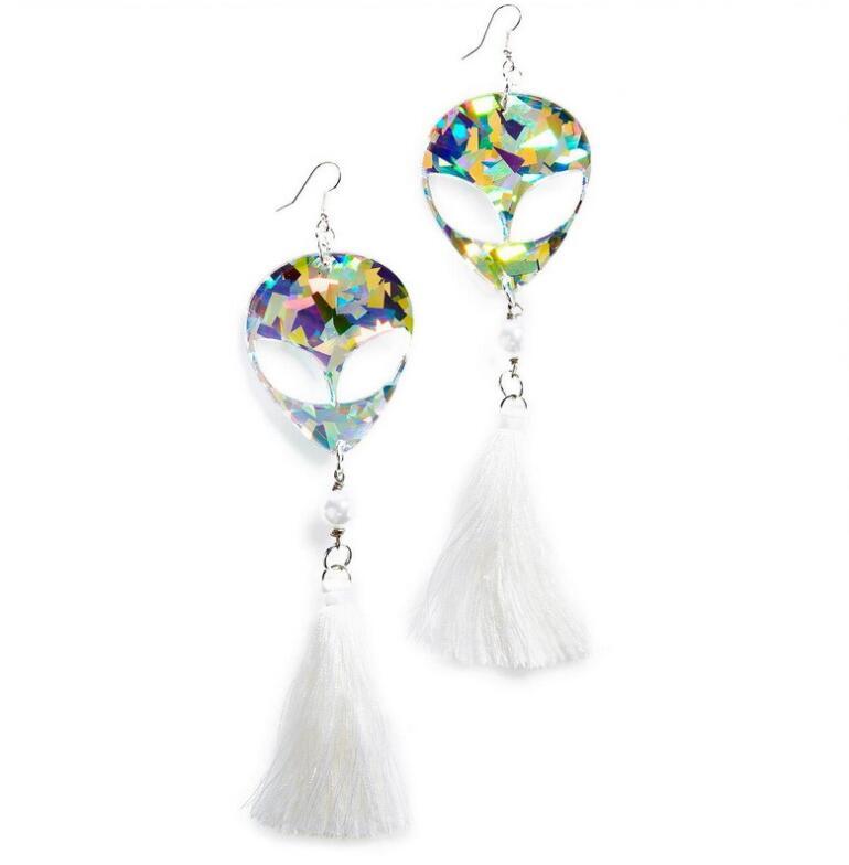 Earrings For Women Kelly Earrings Fashion Charm Exaggerated Hip Hop Girls Gift Cute Alien UFO Saucerman 4