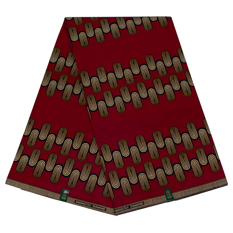 2019 Latest Fashion Design 100% Cotton Scarlet African Print Fabric Pagnes African  Dutch Wax