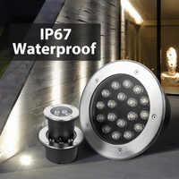 LED Underground Light RGB 12V 220V 110V Floor Lamp 3W 6W 9W 12W 15W 18W 24W 36W Plaza Garden Terrace Outdoor Lighting Step Light