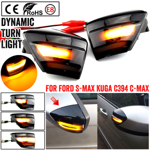 Image 1 - LED Dynamic Side Mirror Sequential Indicator Blinker Light For Ford S Max 2007 2014 C Max 2011 2019 Kuga C394 2008 2012