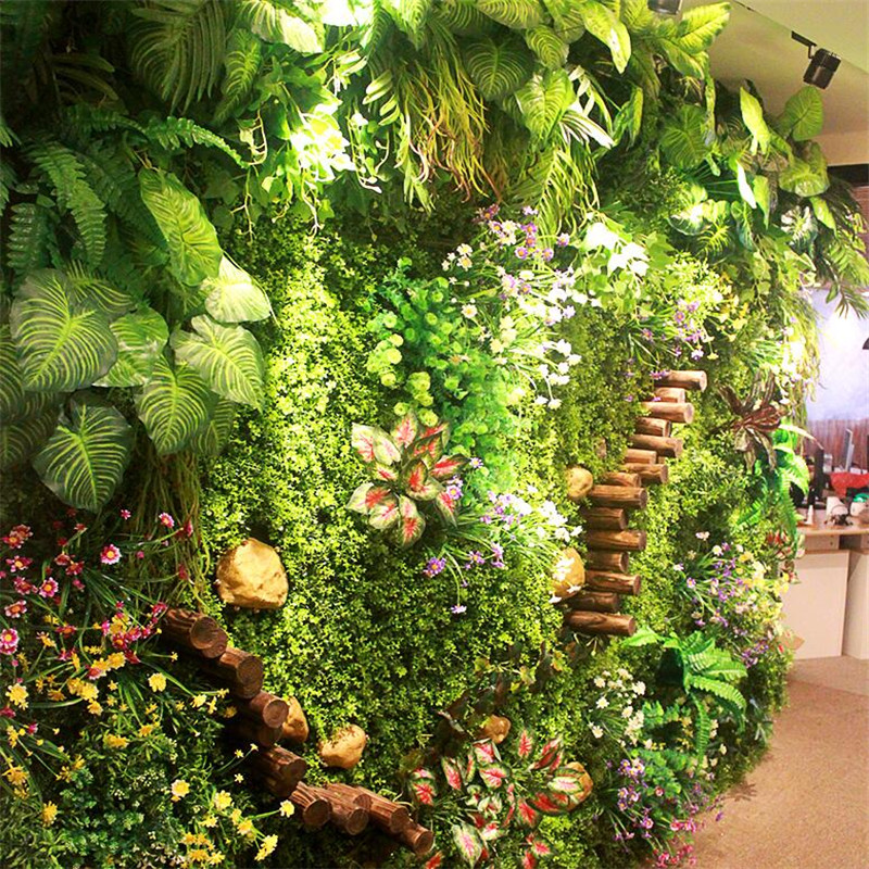 Environment Artificial Lawn 40*60cm Artificial Turf Simulation Plant Wall Outdoor Ivy Fence Bush Plant Walls