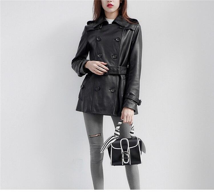Free Shipping,Women Genuine Leather Slim Jacket.plus Size Female Sheepskin Coat Suede,fashion Style Leather Jackets.sales