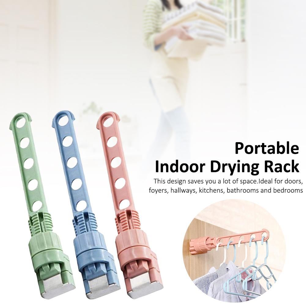Foldable Clothes Hanger Clothes Drying Rack Plastic Clothes Hangers Home Storage Hangers Cloth Hanger Hook Organizer