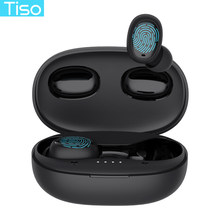 Tiso I6 Touch Kontrol Nirkabel Earphone Beralih Mulus Mini Bluetooth 5.0 Headphone Kebisingan Membatalkan MIC 3D Tws Stereo Headset(China)