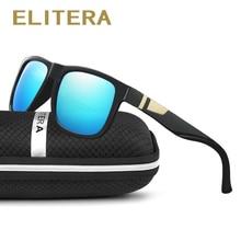 ELITERA Square Wide Frame Sunglasses For Men Women Polarized Glasses