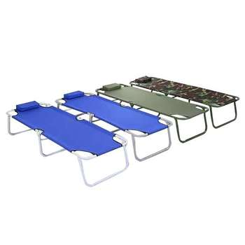 Simple Folding Portable Escort Nap Camp Bed Office Overtime Nap Couch Sheets People Canvas Bed