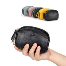 Cow Leather Womens Wallets and Purses 2020 Fashion Girls Money Bag Zipper Card