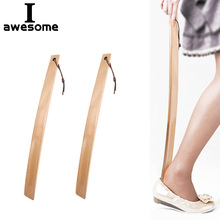 Shoe-Horn Wooden Long-Handle 1pc 38cm Home-Tools Useful Professional Flexible