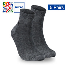 Tanzant Copper Antibacterial Athletic Ankle Socks Antimicrobial crew Compression-Fit Running for Men 5 pair