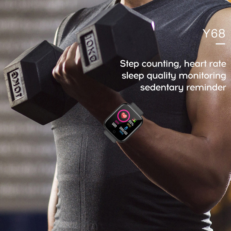 Y68 D20 Smart Watch Waterproof Bluetooth Blood Pressure Fitness Tracker Heart Rate Monitor Smartwatch For Apple IOS Android 1