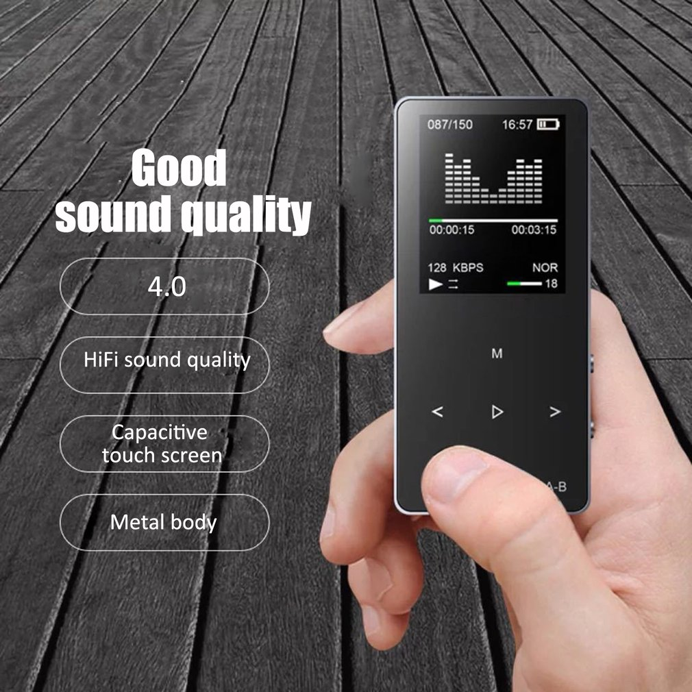 16GB Wireless MP3 Player HiFi Bass Music Player APE FLAC FM Radio TF Portable MP3 Music Player Hi-Fi Lossless