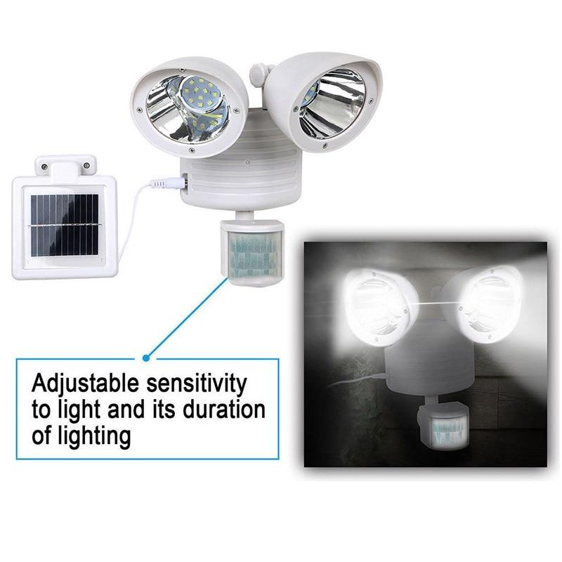 22 LED Double-Headed Solar Light Motion Body Sensor Security Wall Lamp Outdoor Garden Spotlight @8 JDH99