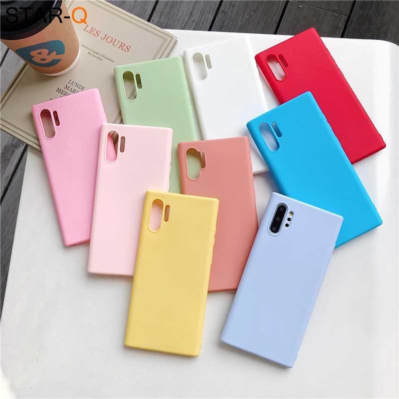 Kẹo Dẻo Silicone Ốp Lưng Điện Thoại Samsung Galaxy Note 10 9 8 S10 S10E S9 S8 S20 Plus E Galaxi Mờ Mềm TPU nắp Lưng Trường Hợp