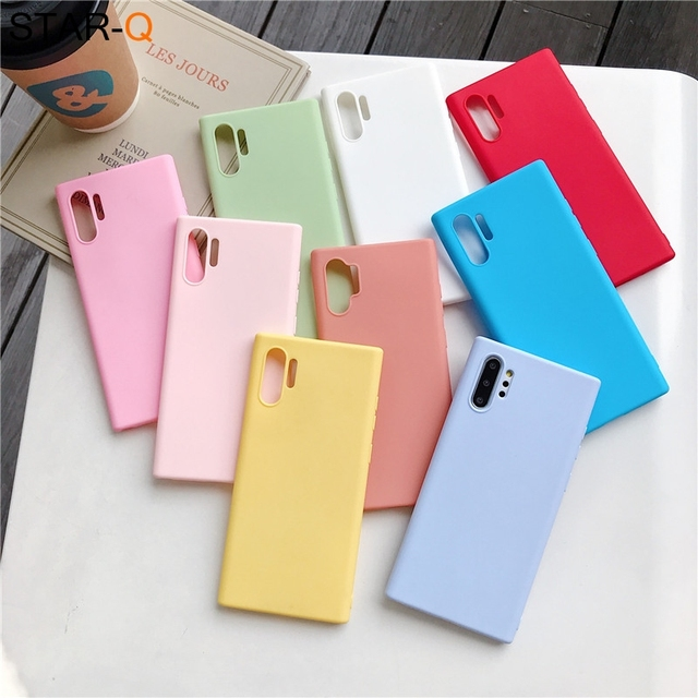 candy color silicone phone case for samsung galaxy note 10 9 8 s10 s10e s9 s8 s20 plus e galaxi matte soft tpu back cover cases 2