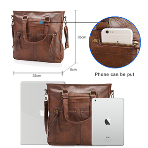 Image 4 - Casual Tote Bag for Women Vintage Briefcase for Lady  Office Ladies14laptop Bags  Female Messenger Bag Brand Crossbody Package