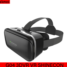цена на VR SHINECON G04 3DVR 3D Virtual Reality Headset Glasses 3D Glasses Box Stereo 3D VR For 4.7-6.0 Inches Android IOS Smart Phones