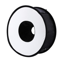 Top 45cm Foldable Ring Speedlite Flash Diffuser Macro Shoot Round Softbox for Canon Nikon Sony Pentax Godox Speedlight(China)