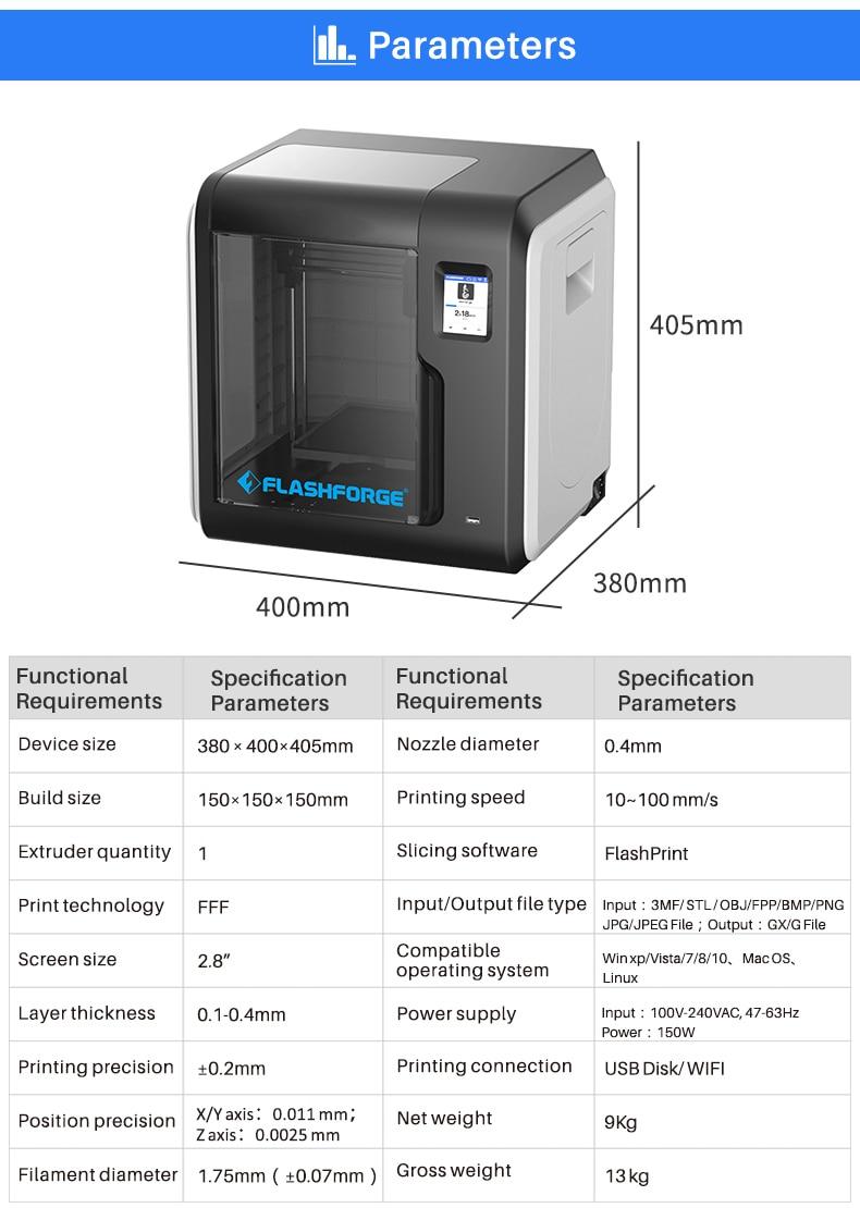 H946a975fa66a4c8fa191426905599d38m Flashforge Adventurer 3 DIY 3D Printer