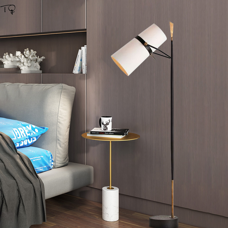 Gold Black Modern Floor Lamp Nordic Design Creative Led Standing Lamps for Living Room Bedroom Study Art Decoration Home Salon in Floor Lamps from Lights Lighting