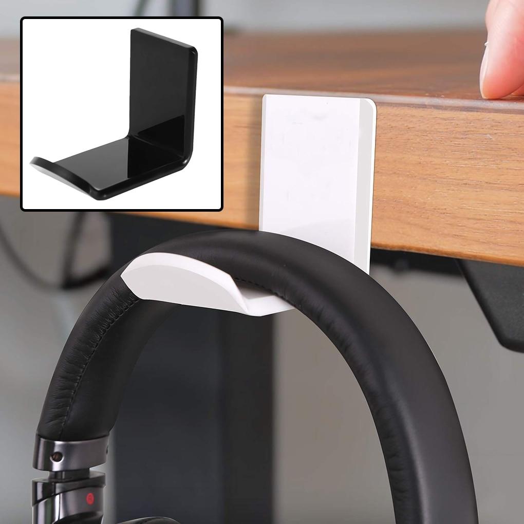Sticker Acrylic Headphone Wall Hanger Computer Headset Earphone Display Holder Acrylic Wall Mounted Hook Sticky Display Stand